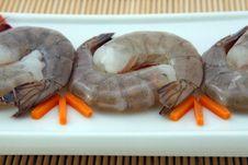 Free Japanese Food - Gourmet Raw Sushi King Tiger Prawns Stock Image - 920521