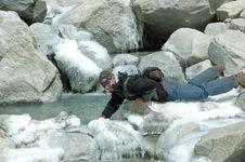 Free Trekker On Everest Glacier(Nepal Himalaya) Stock Photos - 920693