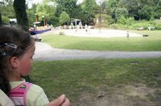 Free Girl Watching Playground Royalty Free Stock Photography - 920837