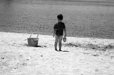Free Little Boy On Beach Stock Photos - 922493