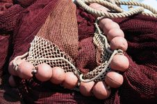 Free Fishing Net, Red. Royalty Free Stock Photos - 924058