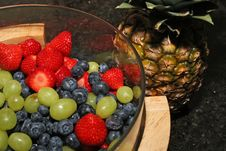 Free Pineapple And Berries Stock Photography - 925042