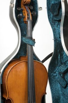 Cello In A Case Stock Photos