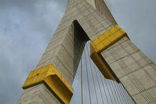 Detail Of Suspension Bridge Stock Photo
