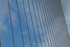 Detail Of Suspension Bridge Stock Photography