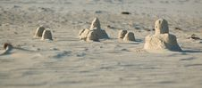 Free Sand Castles Royalty Free Stock Photography - 927447