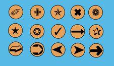 Free Everyday Symbols Bordered By Circles Stock Photos - 927643