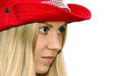 Free Girl In The Red Hat Royalty Free Stock Image - 928206