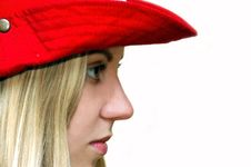 Free Girl In The Red Hat Royalty Free Stock Photos - 928568