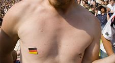 German Fan Chest Royalty Free Stock Image