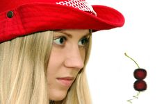 Free Girl In The Red Hat Stock Image - 928591