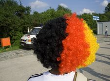 German Wig Stock Photo
