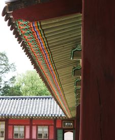 Free Korean Palace Royalty Free Stock Photo - 928715