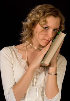 Free Girl With Book-2 Royalty Free Stock Photo - 929275