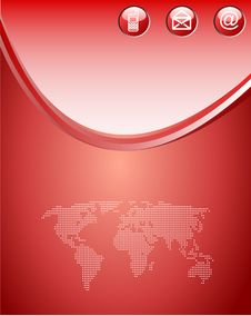 Free Red Web Background Royalty Free Stock Images - 9200179