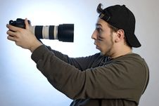 Free Young Man With A Photo Camera Royalty Free Stock Photography - 9205097
