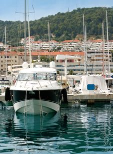 Free Private Yacht In A Harbour Stock Photos - 9207363