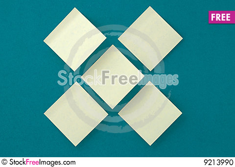 Yellow stickers on old paper background Stock Photo