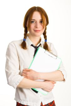 Free Cute Student Girl Stock Photography - 9213642
