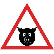 Free Pig Warning Royalty Free Stock Photos - 9213808