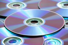 Free Background Made Of Compact Discs Royalty Free Stock Images - 9213849
