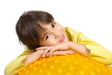 Free Young Girl On The Ball Royalty Free Stock Image - 9214286