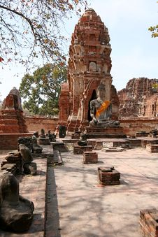 Free Monuments Of Buddah Royalty Free Stock Photo - 9214965