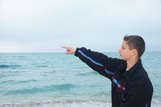 Free Boy Over Sea Stock Image - 9214981