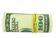 Free One Hundred Dollar Bill Roll Stock Photo - 9215620