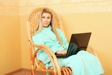 Rest With Laptop Royalty Free Stock Photo