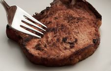 Free Piece Of Meat On A Plate Royalty Free Stock Image - 9216266