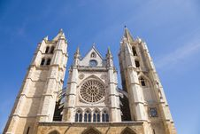 Free Leon Cathedral, Spain Royalty Free Stock Photography - 9216437