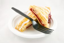 Free Cherry Danish With Fork Royalty Free Stock Photo - 9216495