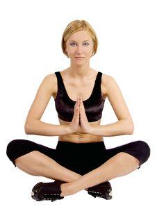 Free Woman Meditating Royalty Free Stock Photos - 9216748