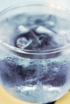 Cold Glass With Ice Water Royalty Free Stock Photo