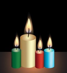 Free Candles Royalty Free Stock Photography - 9218547