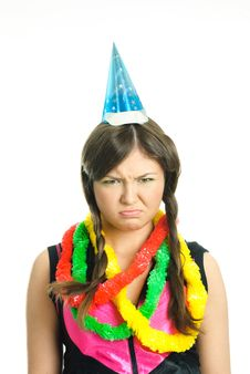 Free Unhappy Girl Celebrating Birthday Stock Photo - 9218590
