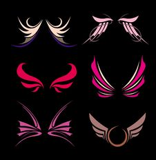 Free Abstract Wings Design. Vector Illustration. Stock Photos - 9219073