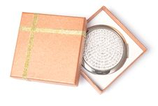 Gift Box And Hand Mirror Royalty Free Stock Photo
