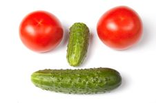Free Funny Vegetable Face Stock Image - 9219331