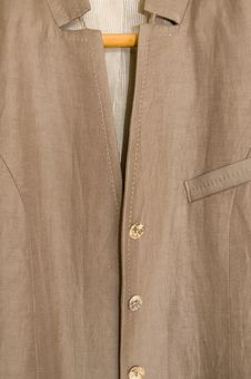 Fragment Of A Jacket Stock Photo