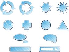 Free Blue Web Buttons Collection Royalty Free Stock Photo - 9219795