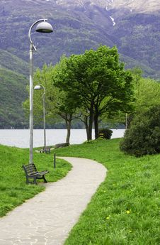 Free  Driveway In The Park Stock Photo - 9219960