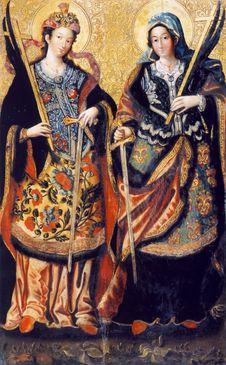 Free Великомучениці Анастасія та Іулянія Royalty Free Stock Photo - 92129495