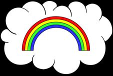Free Rainbow Cloud Stock Images - 92129764