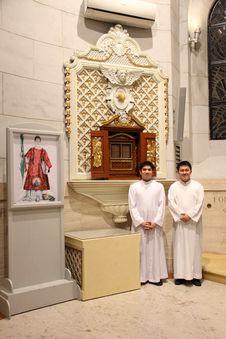 Free Cattedrale Di Manila, Esposizione Dell Icona Di San Cesario Diacono Stock Image - 92129811