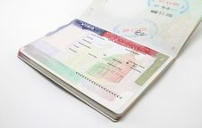 Free USA Visa Isolated Stock Photo - 92129910