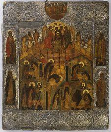 Free Unknown / Tuntematon / ökänd: The Revelation Of Virgin Mary To Saint Alexander Of Svir / Neitsyt Marian Ilmestyminen Pyhittäjä Stock Images - 92130204
