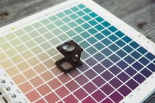 Free Cmyk Color Management Linen Tester Stock Photography - 92130832