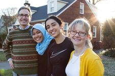 Free Host Family & YES Exchange Students Stock Image - 92130921